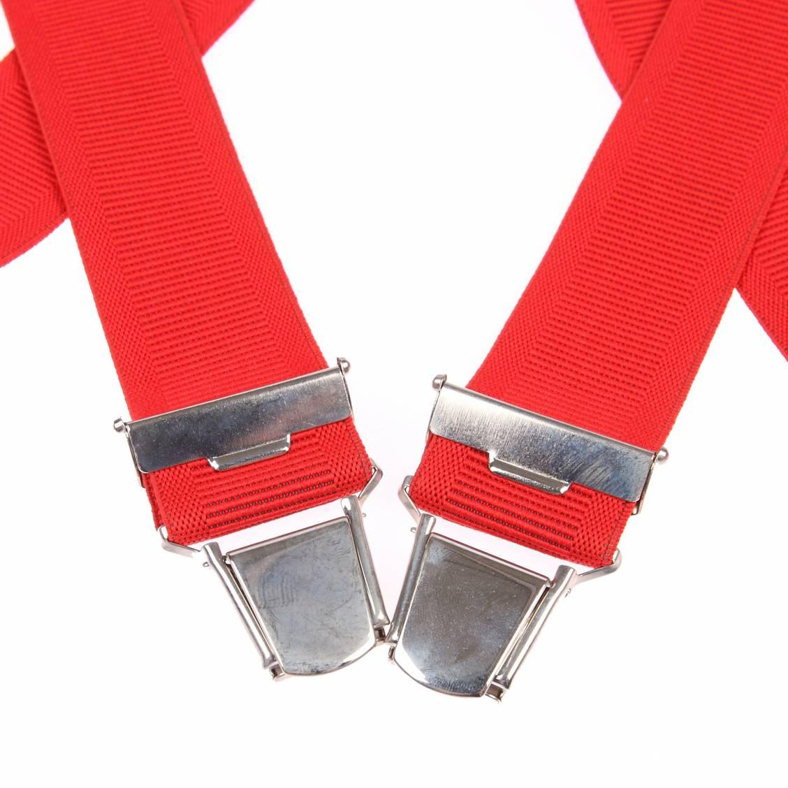 Bretelles Touche Finales rouges à pinces argentées