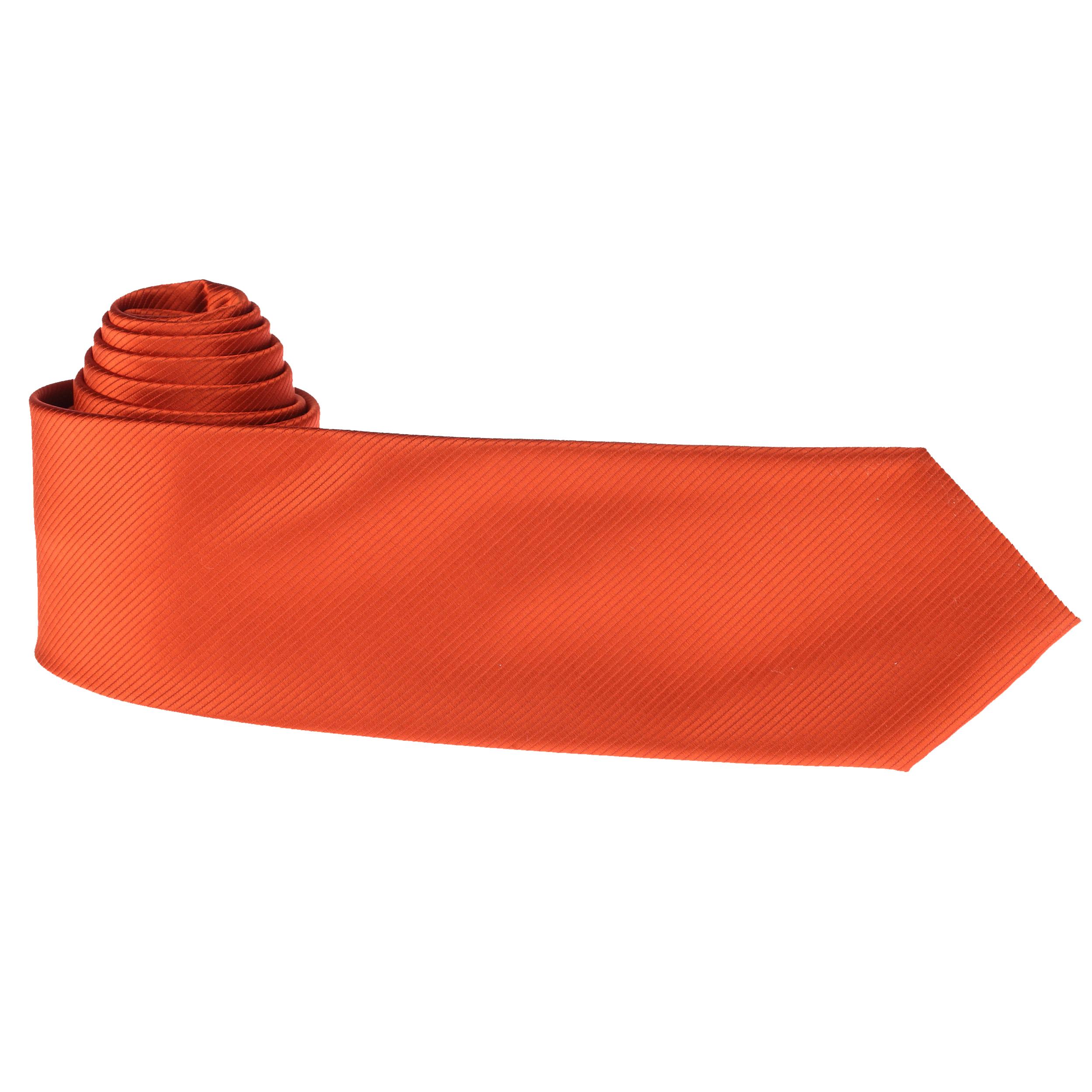 Cravate unie brique