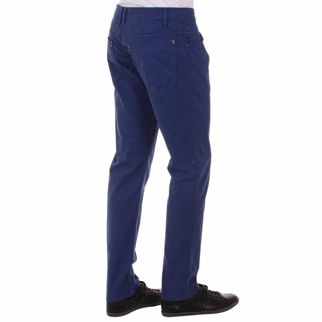 pantalon cintr antony morato en coton bleu roi rue des hommes. Black Bedroom Furniture Sets. Home Design Ideas