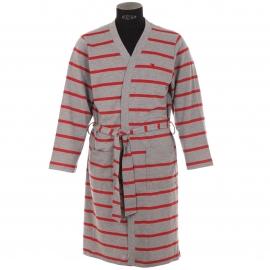 Kimono Piqué Arthur Gris à rayures rouges