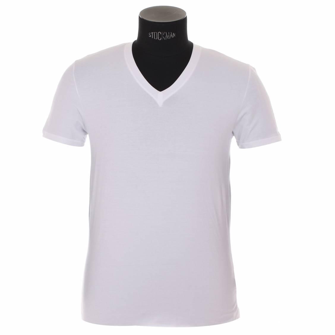Tee-shirt col V Eminence en coton blanc