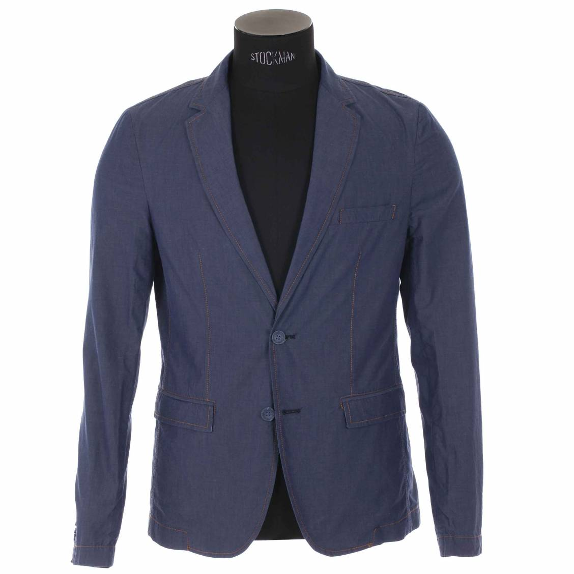 blazer hamaki ho 100 coton bleu jean rue des hommes. Black Bedroom Furniture Sets. Home Design Ideas