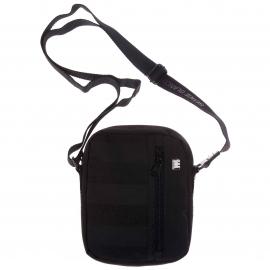 Petite Sacoche Serge Blanco Noire à poche zippée latérale