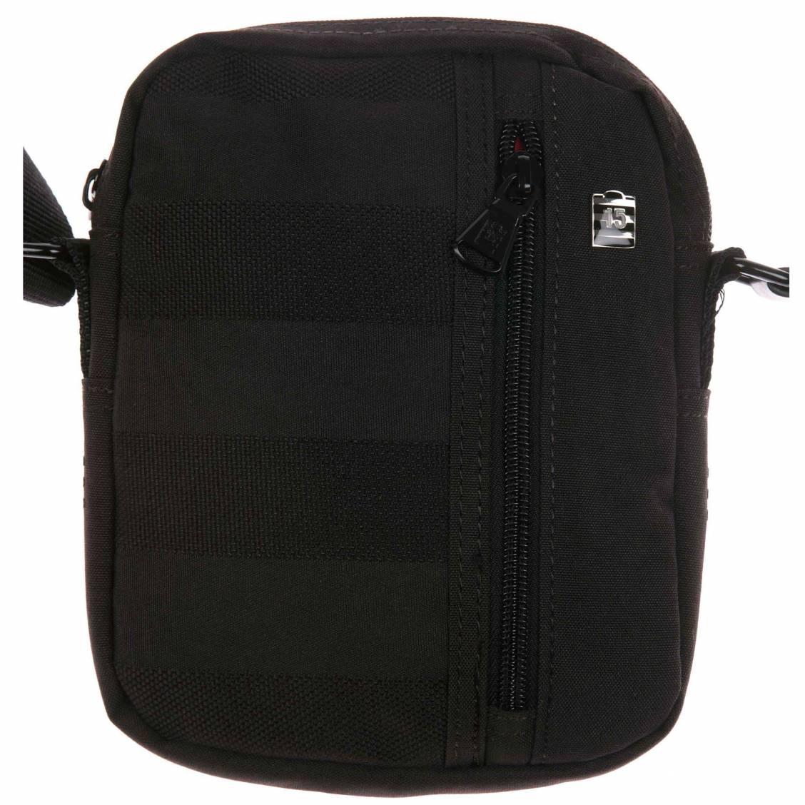 Petite Sacoche Serge Blanco Noire à poche zippée latérale bDn9ZilVLF