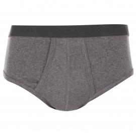 Lot de 2 slips Athena ouverts Taille haute 100% coton Bio Gris chiné