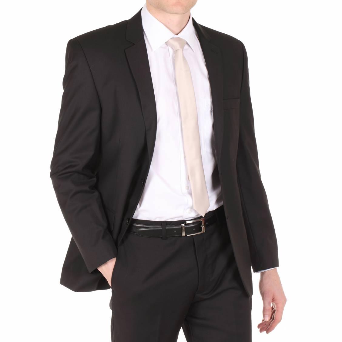 costume semi cintré noir 120S