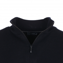 Gilet zippé Armor lux Kerlouan 100% laine vierge marine