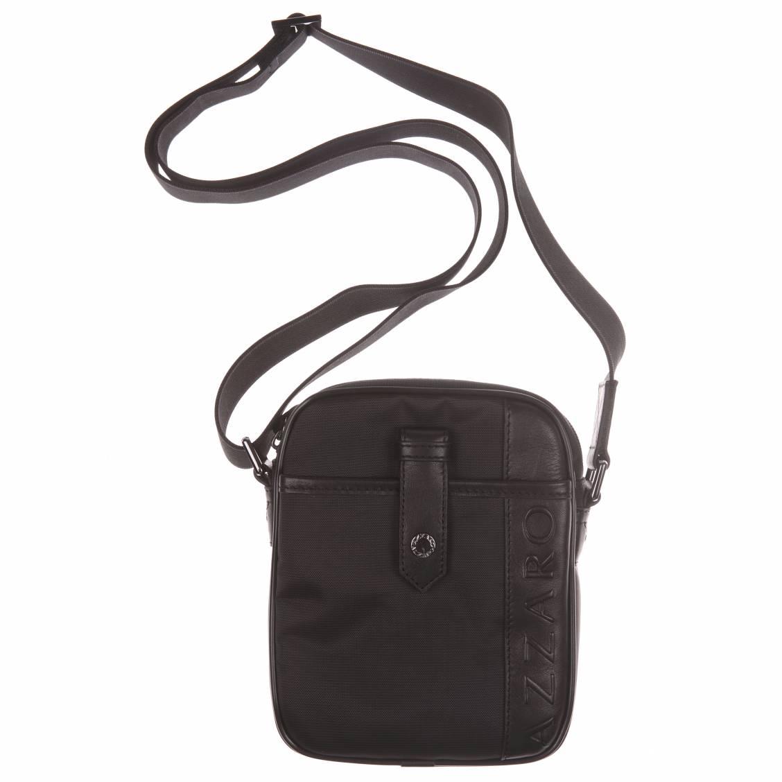 sacoche azzaro noire à bandoulière ajustable