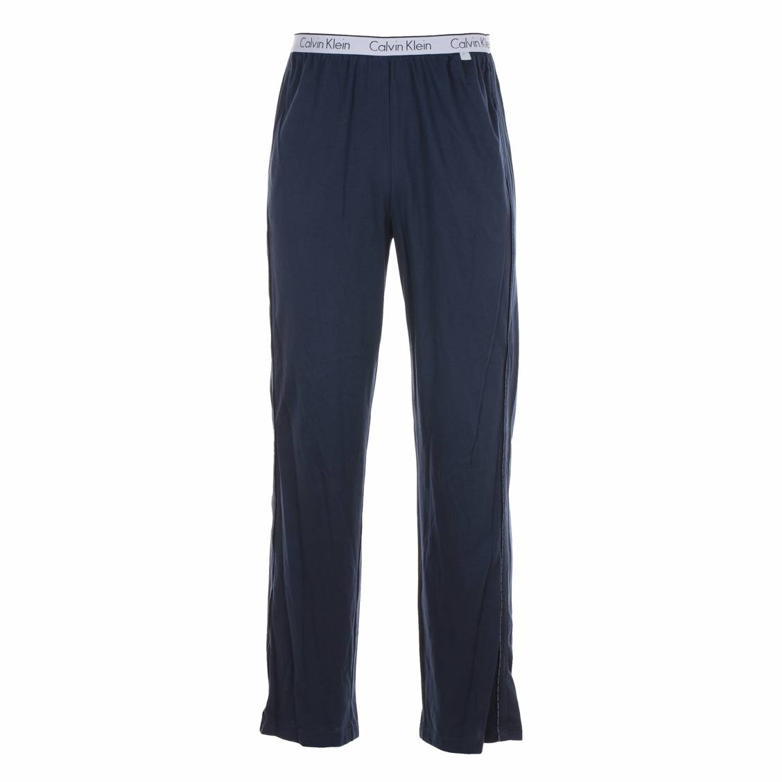 pantalon d 39 int rieur calvin klein 100 coton bleu marine rue des hommes. Black Bedroom Furniture Sets. Home Design Ideas