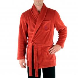 Veste d'intérieur Christian Cane en Velours rouge à col Châle