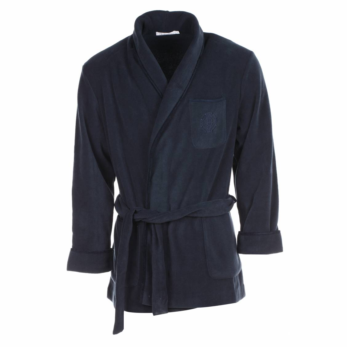 veste d 39 interieur baikal christian cane en polaire bleu marine rue des hommes. Black Bedroom Furniture Sets. Home Design Ideas