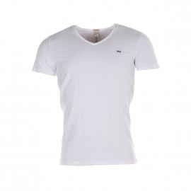 Tee-shirt col V Diesel Blanc
