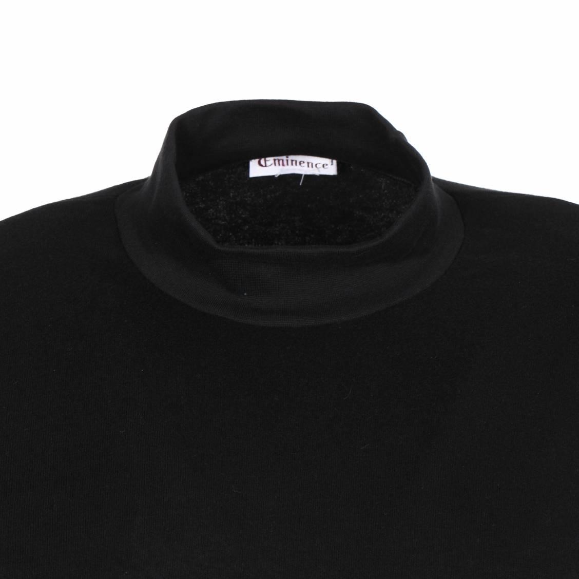 tee shirt noir col chemin e manches longues chaleur naturelle rue des hommes. Black Bedroom Furniture Sets. Home Design Ideas