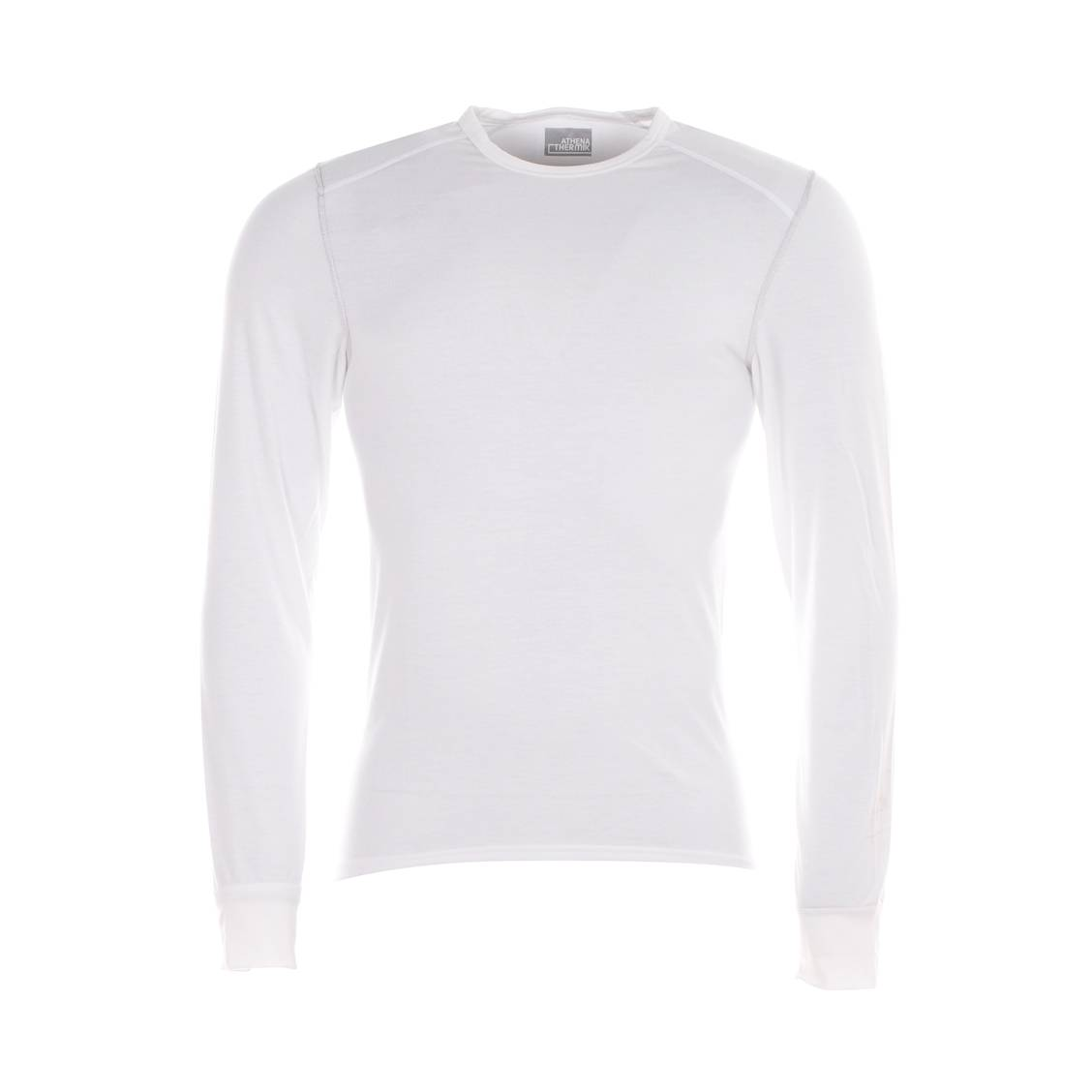 Tee-shirt manches longues Athena Thermik blanc, col rond, ultra chaud et  ultra ... 95ddefbe413