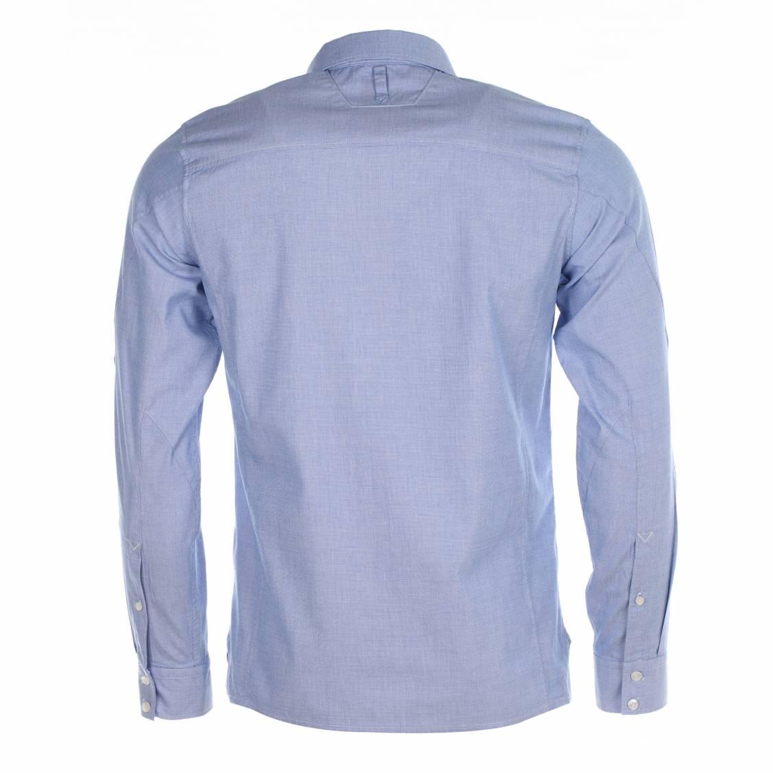 chemise homme g star en coton oxford bleu rue des hommes. Black Bedroom Furniture Sets. Home Design Ideas