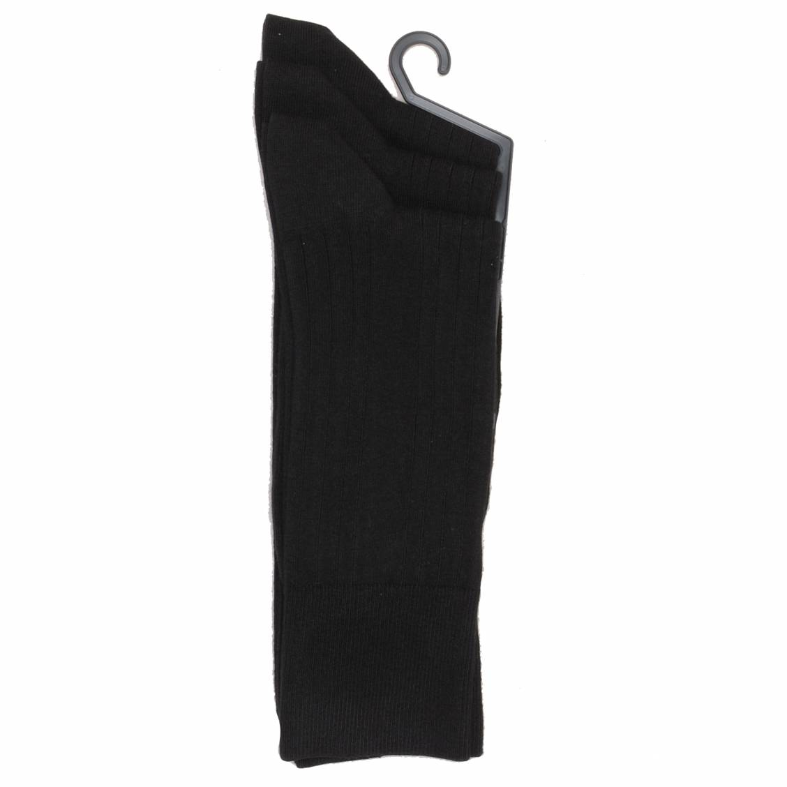Lot de 3 paires de chaussettes noires Hom en coton texturé antibactérien