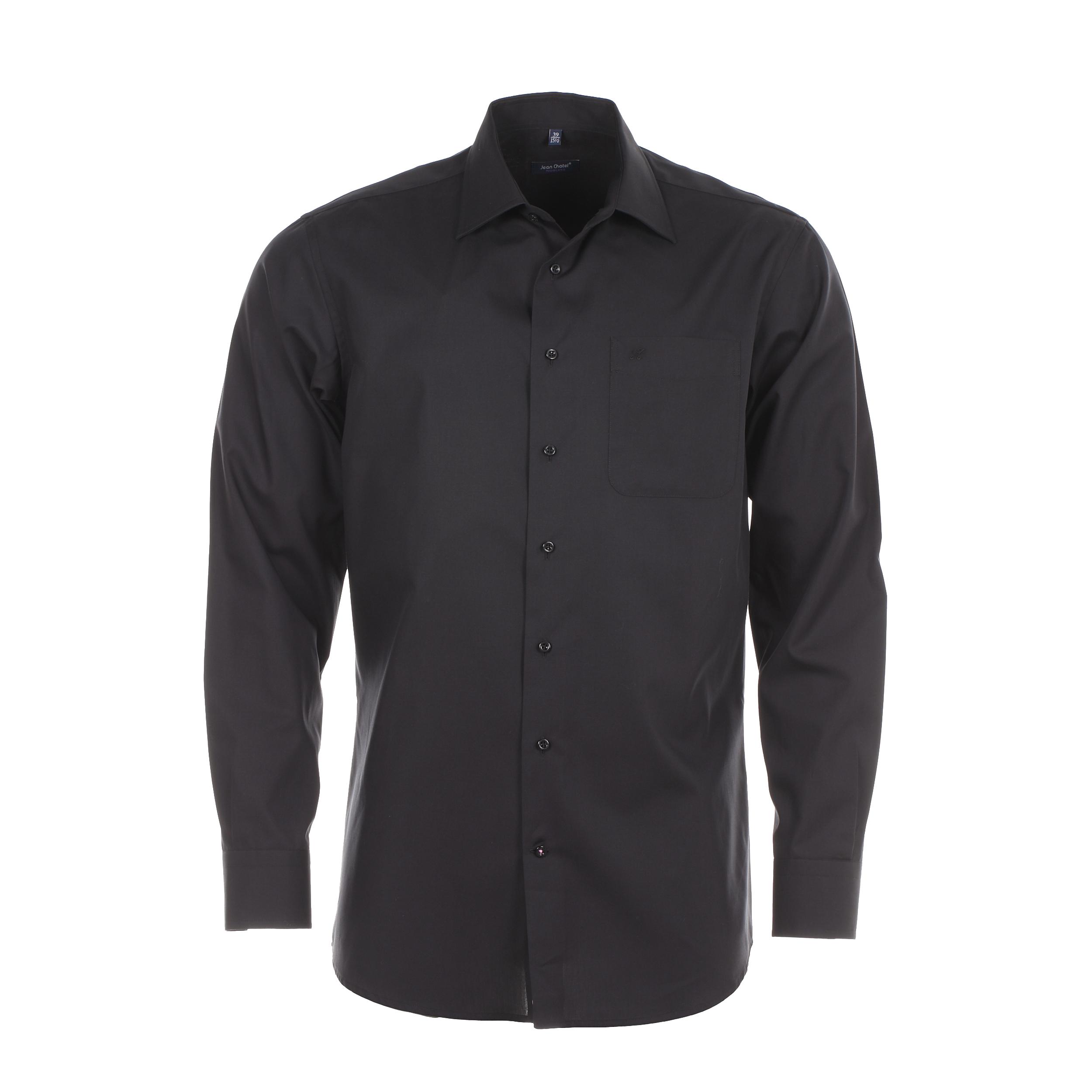 Chemise homme sans repassage  chambray noire