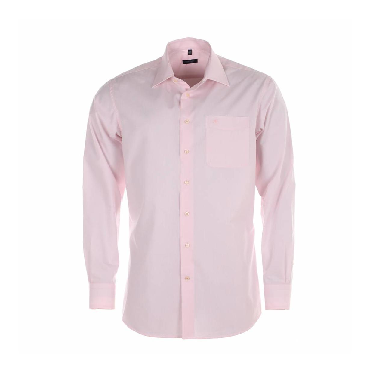 Chemise homme sans repassage  rose