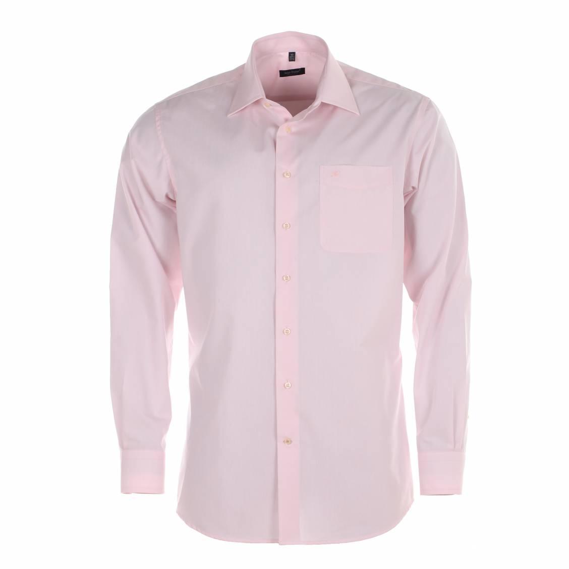 chemise homme sans repassage jean chatel paris rose rue des hommes. Black Bedroom Furniture Sets. Home Design Ideas