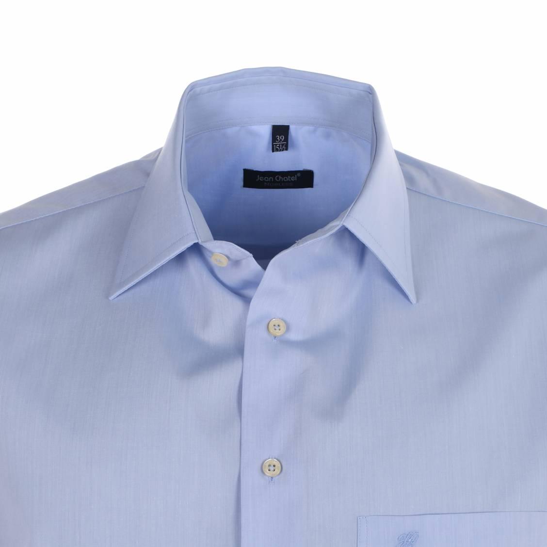 chemise homme sans repassage chambray ciel rue des hommes. Black Bedroom Furniture Sets. Home Design Ideas