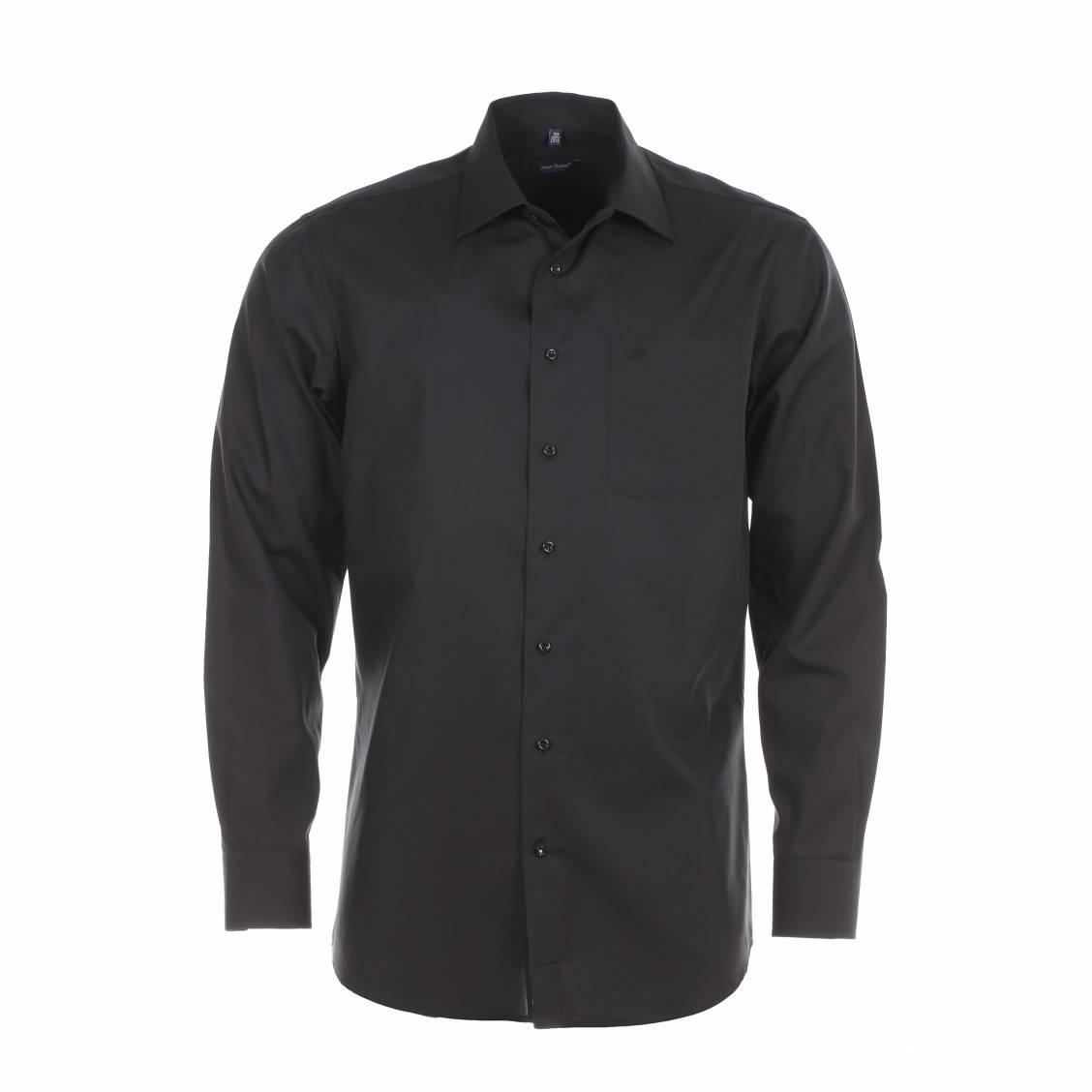 chemise homme sans repassage chambray noire rue des hommes. Black Bedroom Furniture Sets. Home Design Ideas