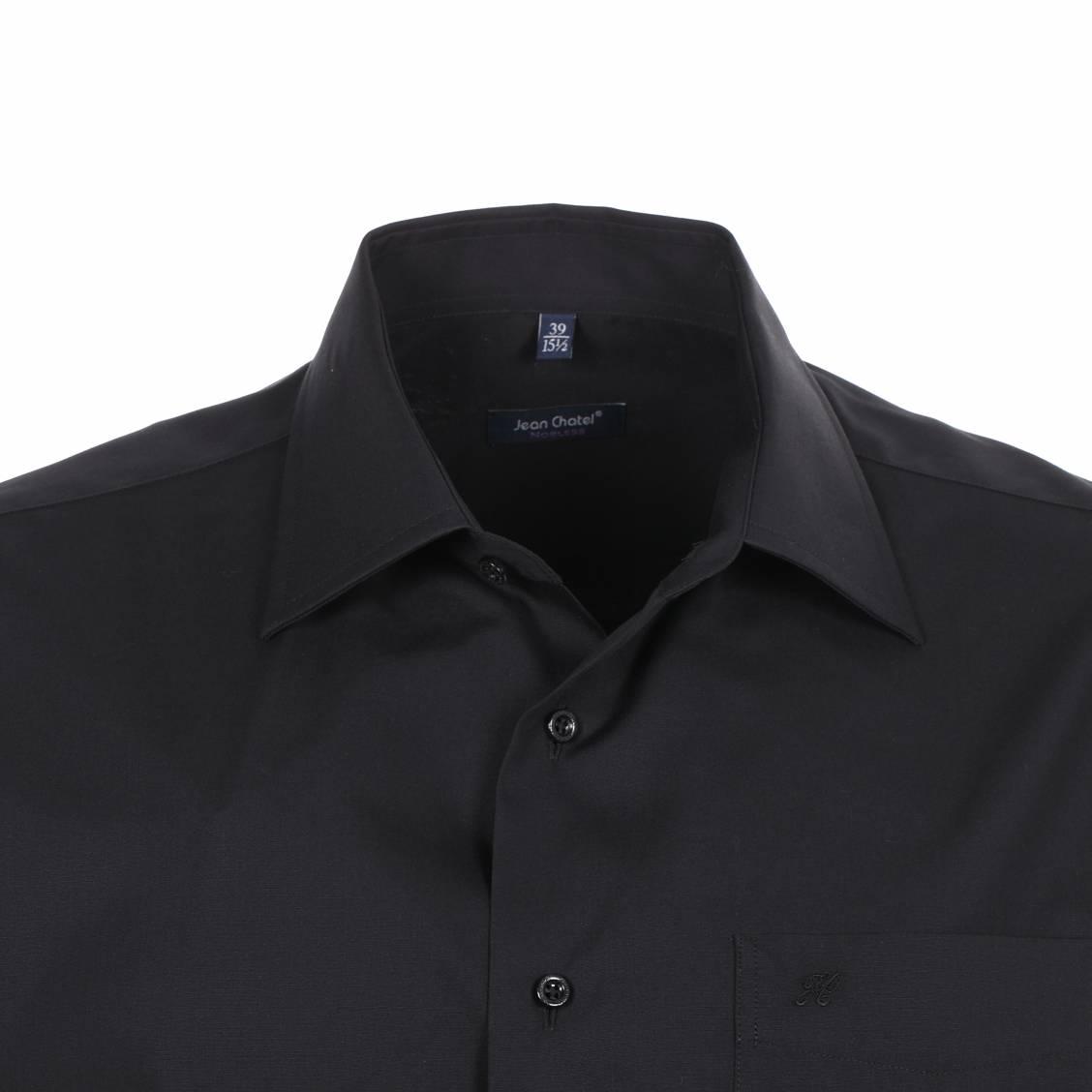 chemise sans repassage noire