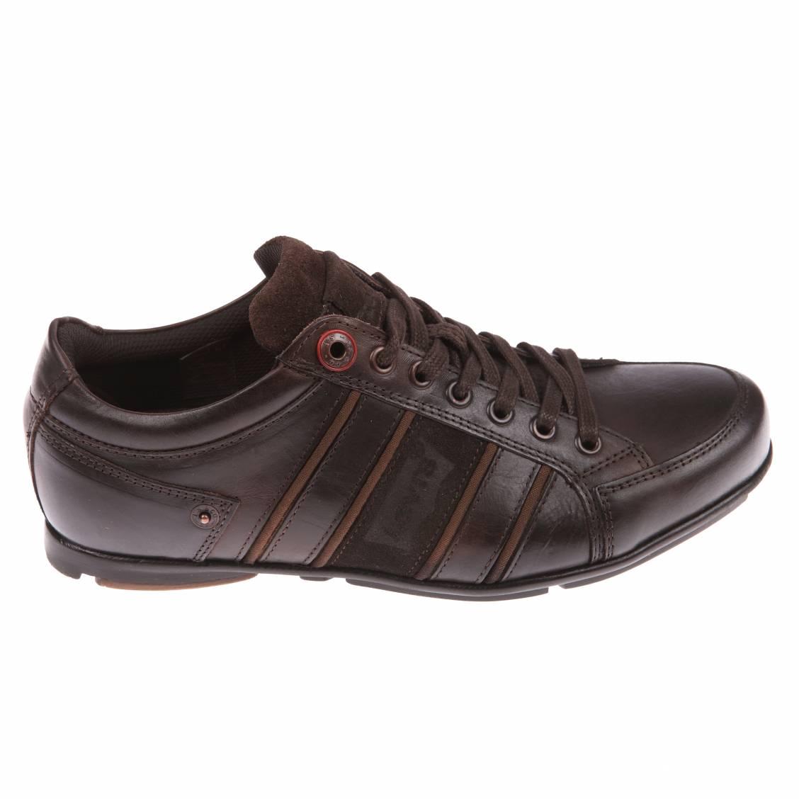 chaussures homme levi s en cuir marron. Black Bedroom Furniture Sets. Home Design Ideas