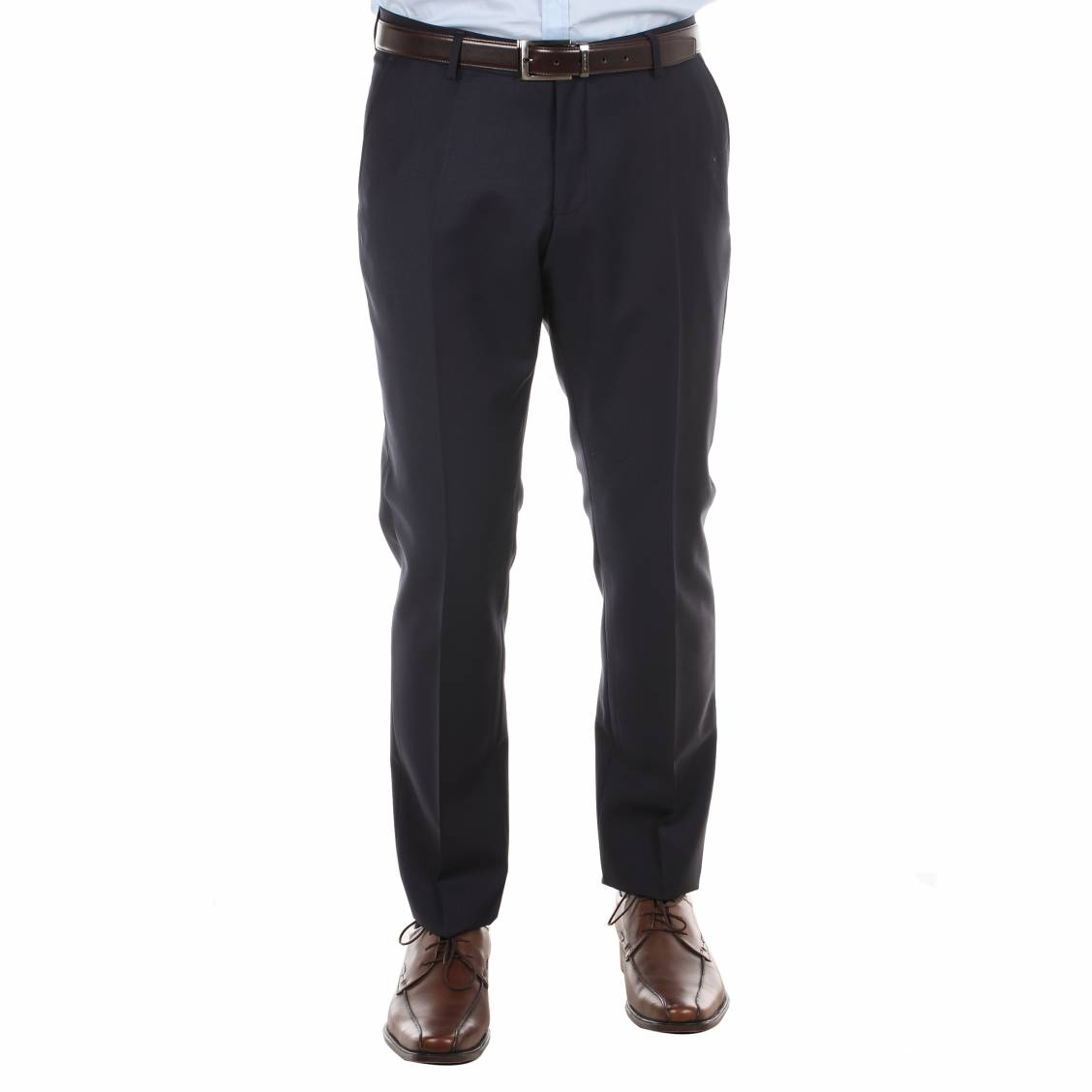 Pantalon de costume cintré selected 100% laine...