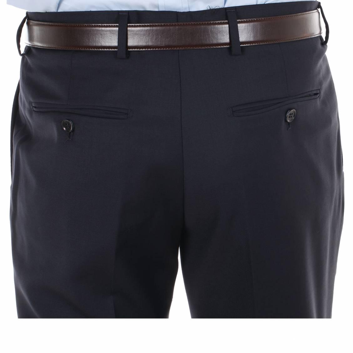 pantalon costume cintré bleu marine