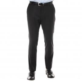 Pantalon de costume cintré Selected en laine Noire