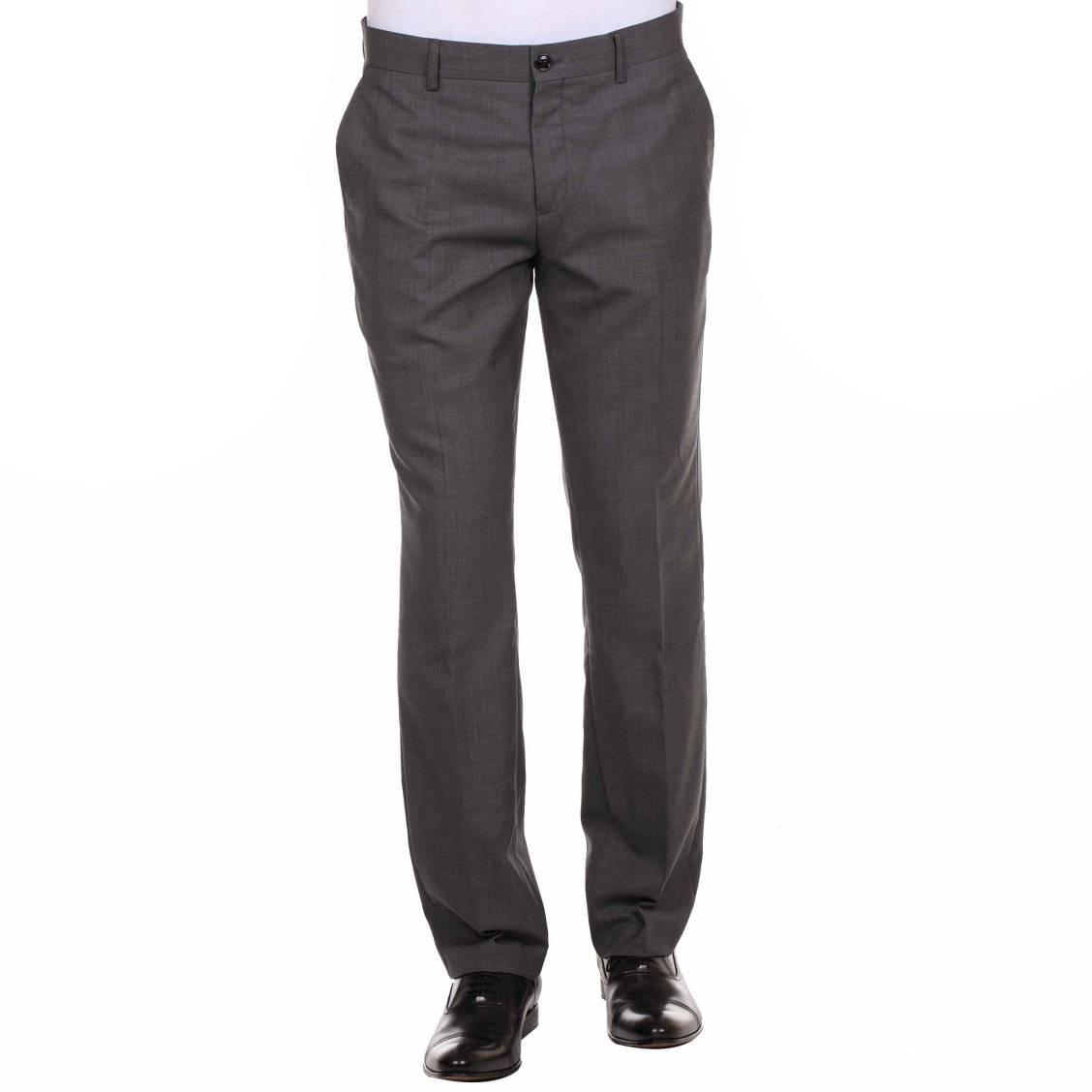 pantalon de costume cintr gris selected rue des hommes. Black Bedroom Furniture Sets. Home Design Ideas