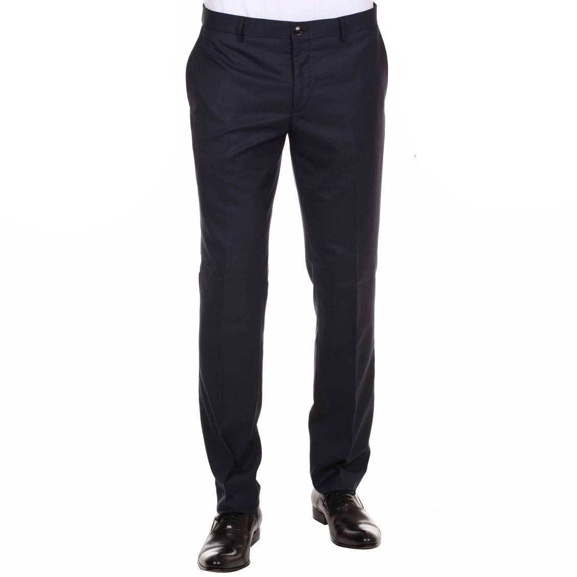Pantalon de costume cintr marine selected rue des hommes - Cintre pour pantalon ...