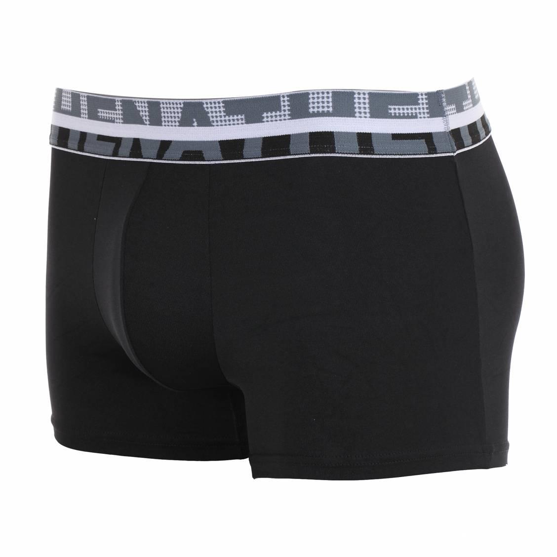 lot de boxers athena noir et gris en microfibre