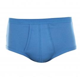 Slip taille haute ouvert Eminence en coton bleu azur
