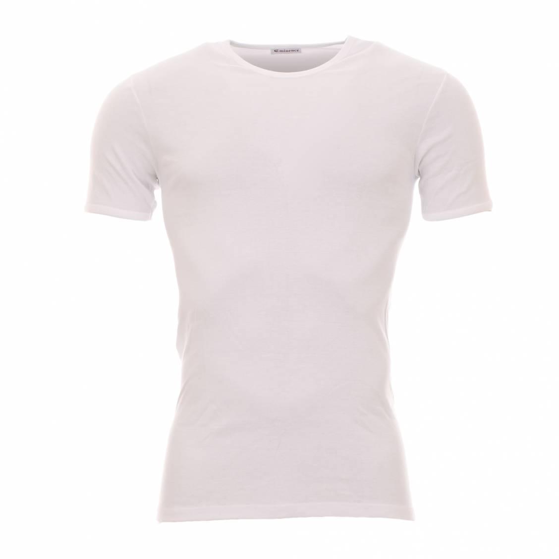 lot de 2 tee-shirts eminence blancs à col rond