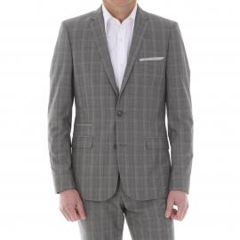 Costume cintré Gianni Ferrucci gris à carreaux