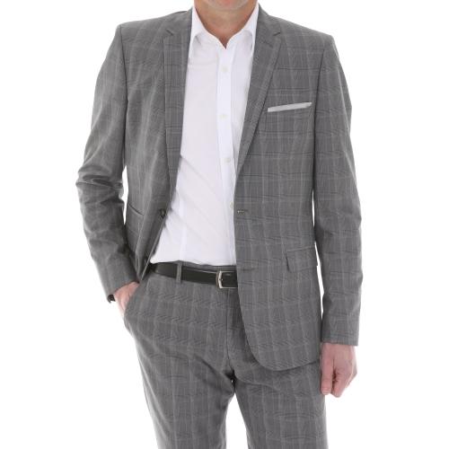 costume cintré gris