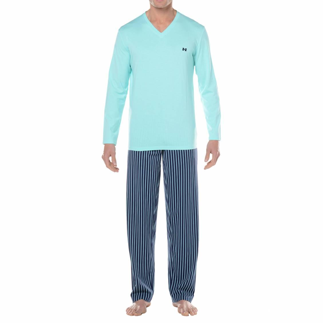 pyjama chaud vente en ligne de pyjamas d 39 hiver homme rue des hommes. Black Bedroom Furniture Sets. Home Design Ideas