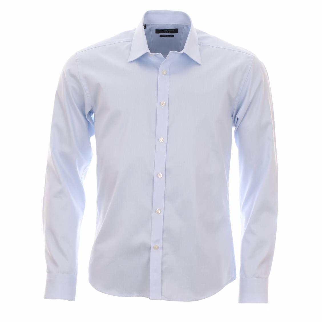 chemise homme selected bleu ciel