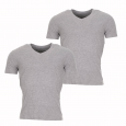 Lot de 2 tee-shirts col V Teddy Smith gris chiné