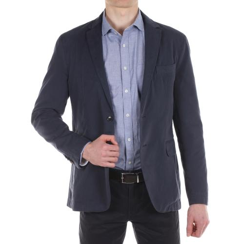 blazer homme bleu marine boutonni res contrast es blanc pictures to pin on pinterest. Black Bedroom Furniture Sets. Home Design Ideas
