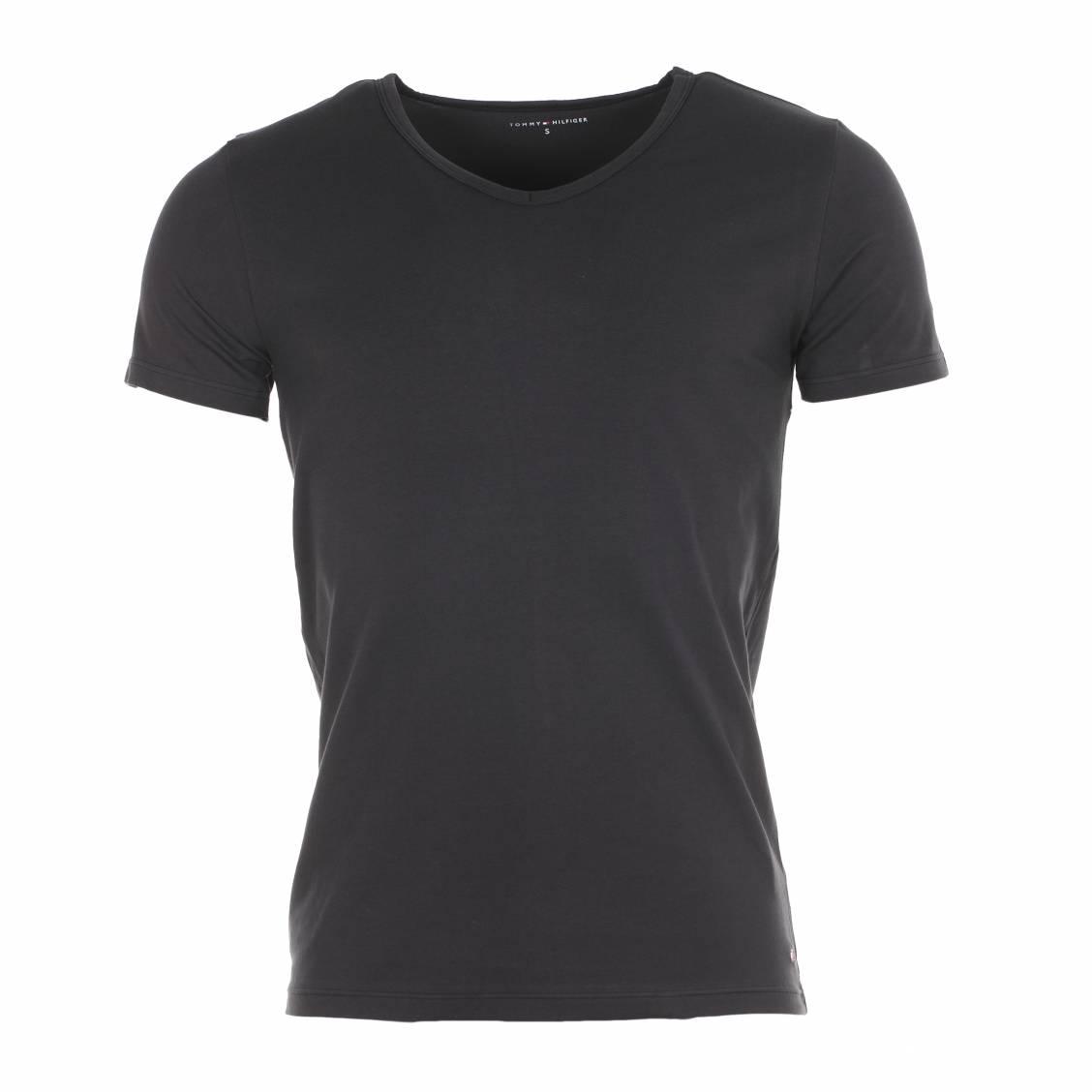 lot de 3 tee shirts col v tommy hilfiger en coton stretch. Black Bedroom Furniture Sets. Home Design Ideas