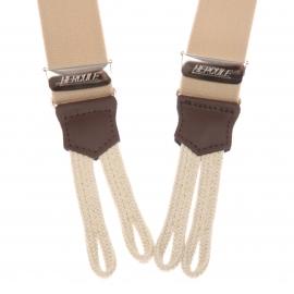 Bretelles à pattes de boutonnage beige