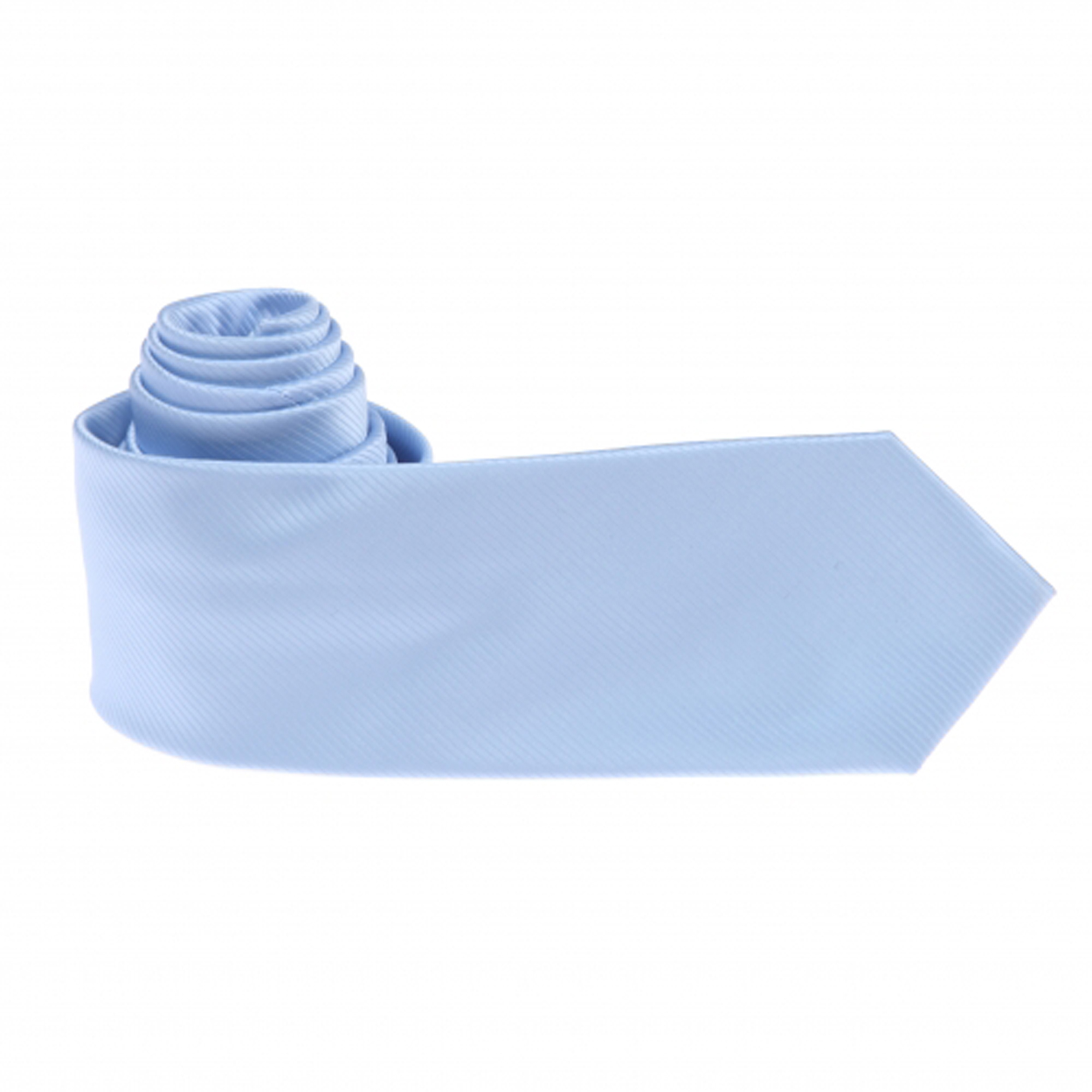 Cravate unie bleu ciel