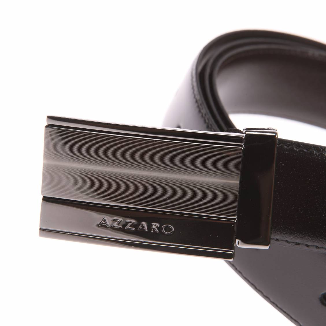 Coffret cadeau   ceinture Azzaro ajustable, noir réversible marron, à  boucle pleine et classique d088c53b50b