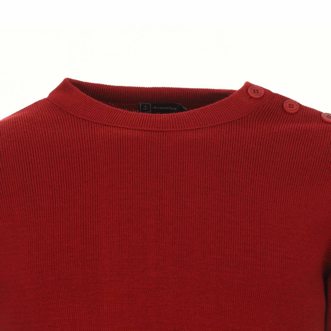 Pull en laine rouge Armor Lux