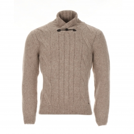 Pull col boutonné homme