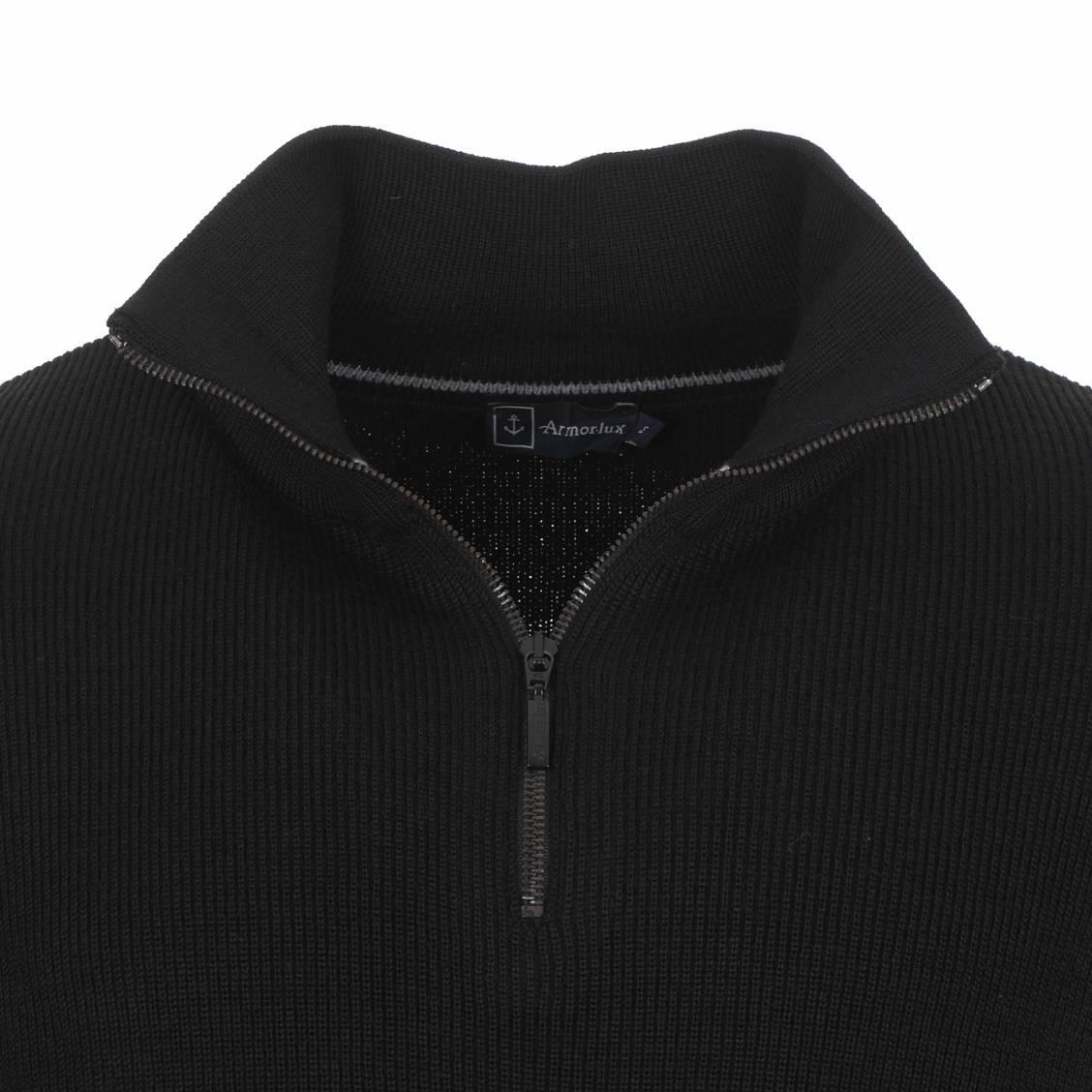 pull en laine noire Armor Lux