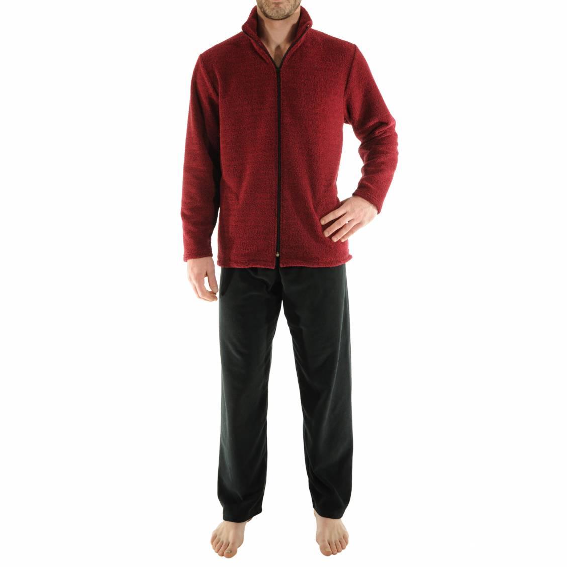 Pyjama chaud vente en ligne de pyjamas d 39 hiver homme for Tenue interieur homme