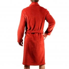 Peignoir d'intérieur Christian Cane en Velours rouge à col Châle